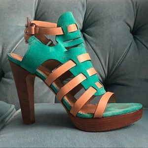 Rag & Bone Turquoise Leather Strappy Sandals
